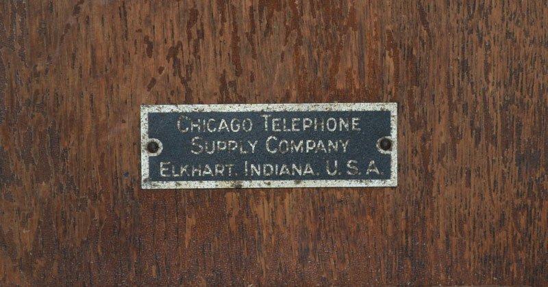 Vintage Oak Case Chicago Telephone - 2