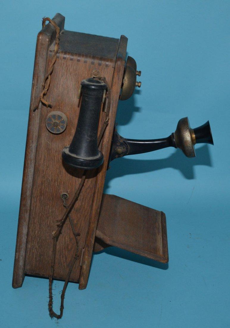 Vintage Oak Case Chicago Telephone - 3