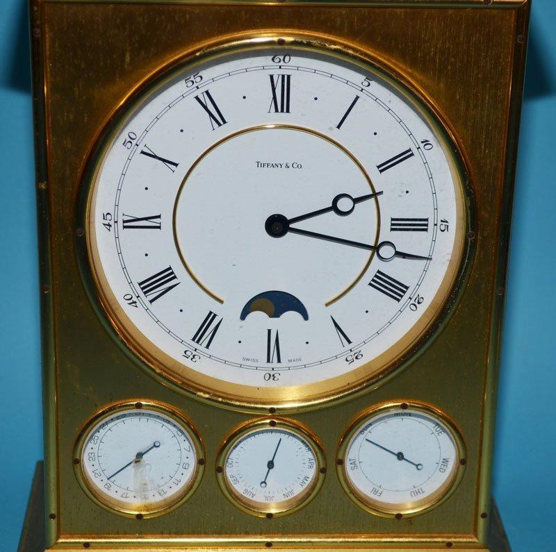Tiffany & Co Brass Clock with Calendar - 2