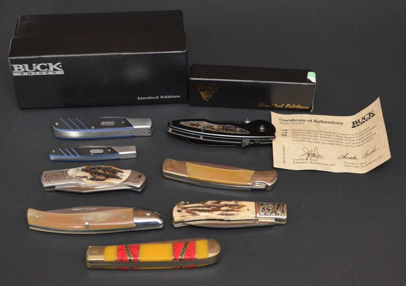 Lot of 7 Various Types of Knives