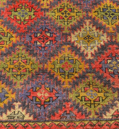Great Geometric Oriental Carpet / Rug - 2