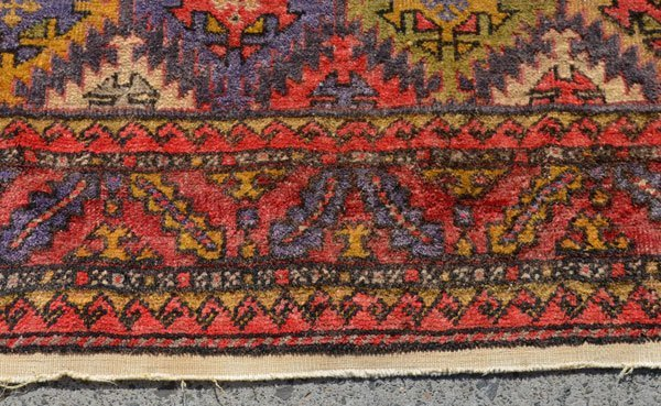 Great Geometric Oriental Carpet / Rug - 3