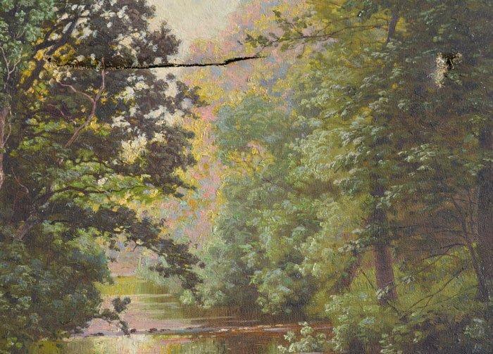 Rene Charles Edmond Landscape River Scene Painting - 2