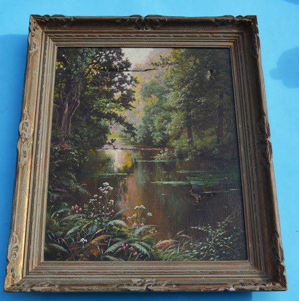 Rene Charles Edmond Landscape River Scene Painting - 5