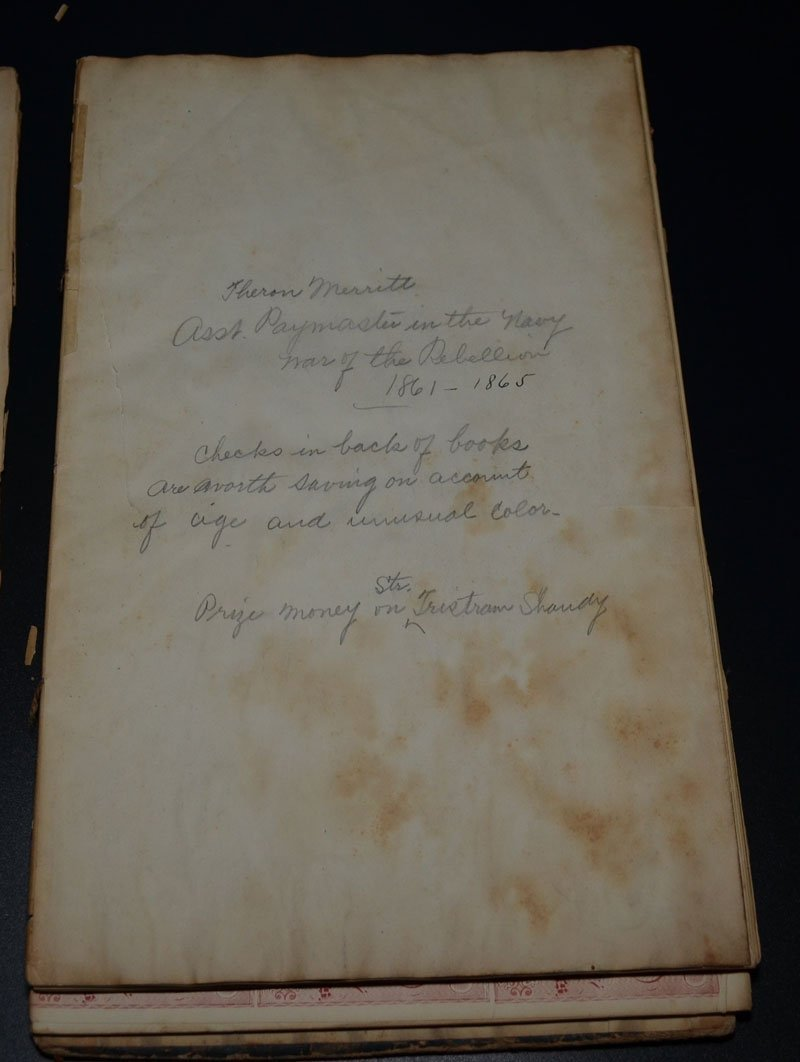 Civil War Lot ( Two Mailbags, News & Paymasters Book) - 4