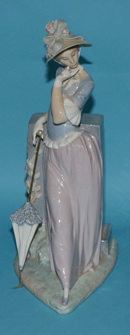 """Large Lladro Porcelain Woman w Parasol 4850, """"Esthetic"""