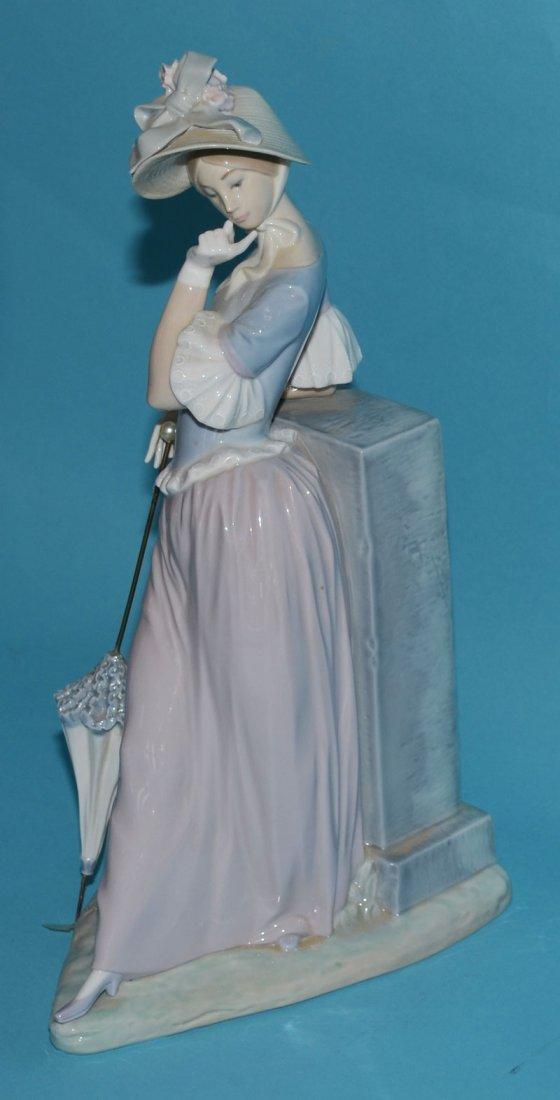 """Large Lladro Porcelain Woman w Parasol 4850, """"Esthetic - 2"""