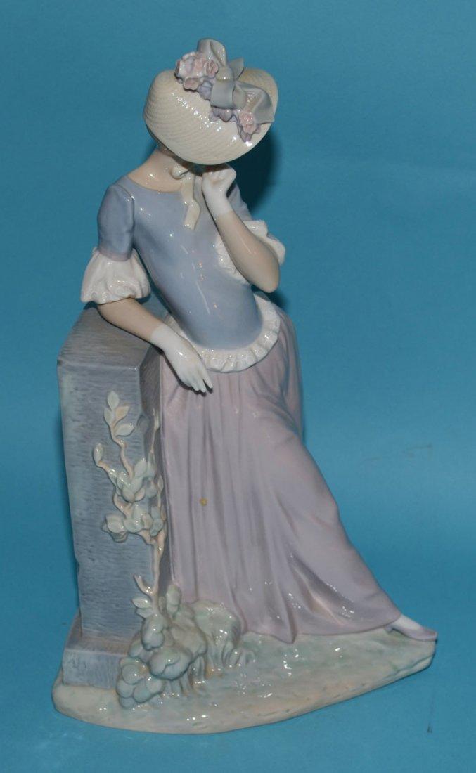 """Large Lladro Porcelain Woman w Parasol 4850, """"Esthetic - 4"""