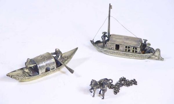 2: 3 Pieces Of Dutch Sterling Silver (Boats)