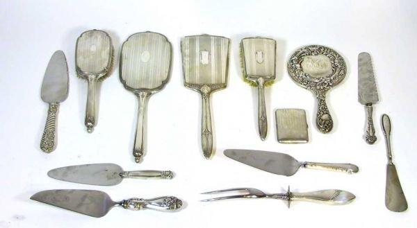4:  Sterling Silver  Dresser Accessories & Flatware