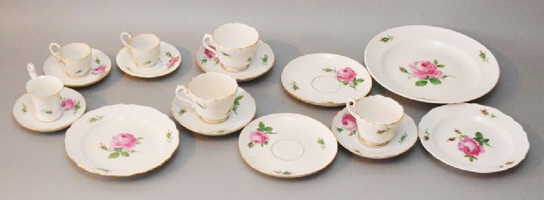 Collection of Meissen Rote Rose China