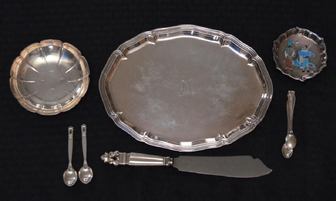 Generous Lot Of Continental Sterling Silver Accessories
