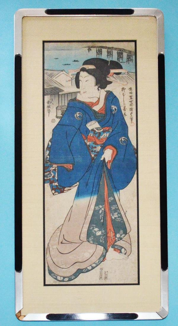 Japanese Geisha Woodblock Print by Kunisada