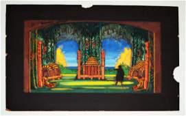 Lee Simonson Theatre Set Design Painting