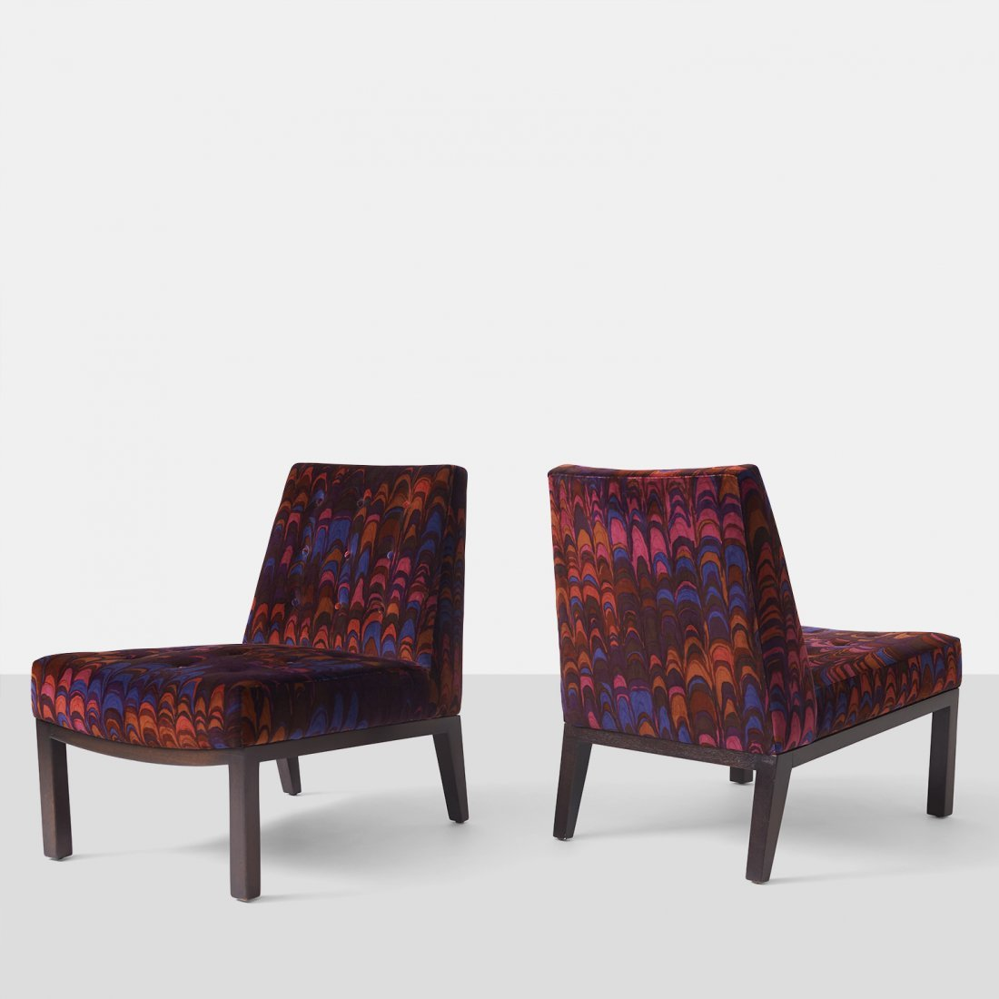 Edward Wormley for Dunbar, Slipper Chairs with original