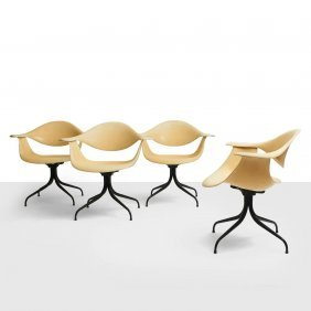 George Nelson, Set Of 4 Swag Leg Chairs
