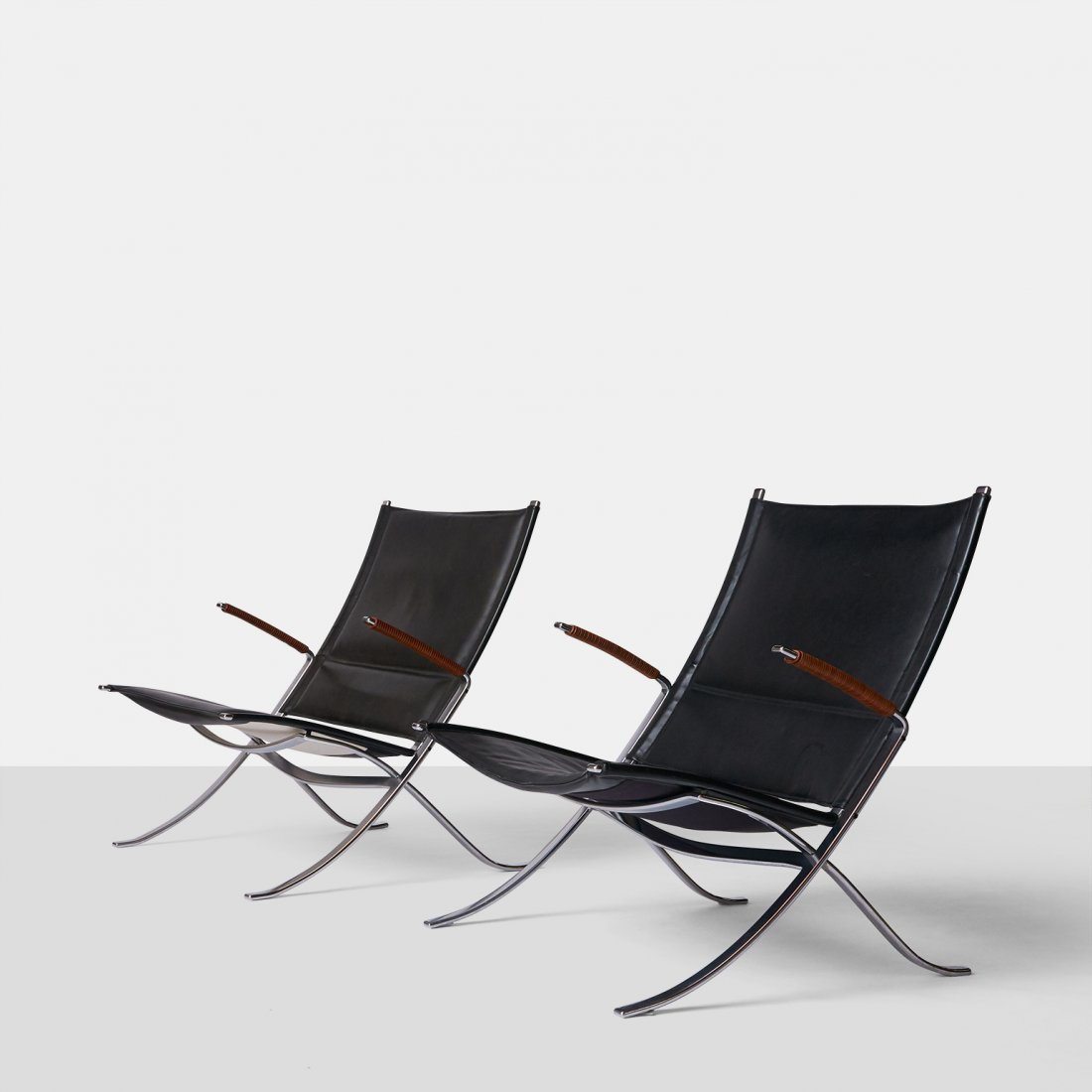 """Fabricius & Kastholm, Pair of """"X Chairs"""""""