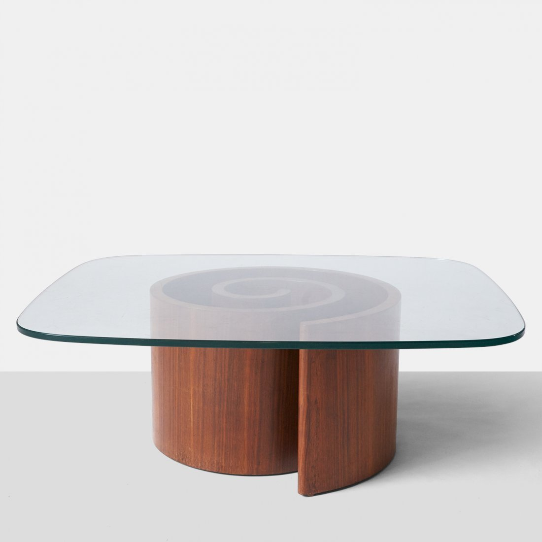"Vladimir Kagan, ""Snail"" Coffee Table"