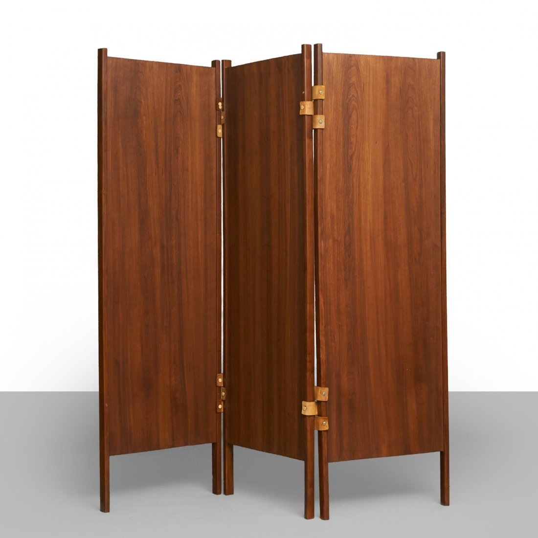 Percival Lafer Style Brazilian Rosewood 3-Panel Screens - 3