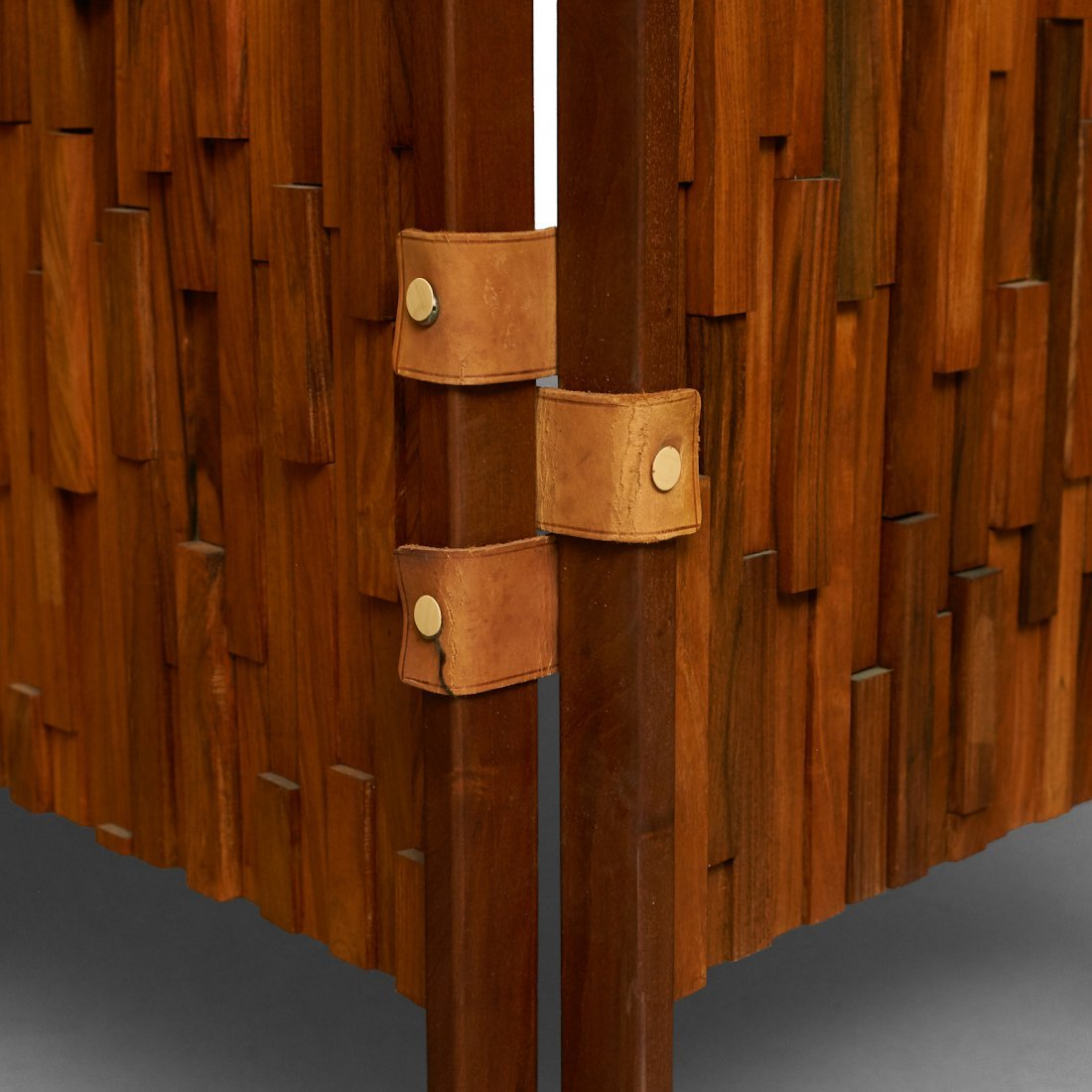 Percival Lafer Style Brazilian Rosewood 3-Panel Screens - 4