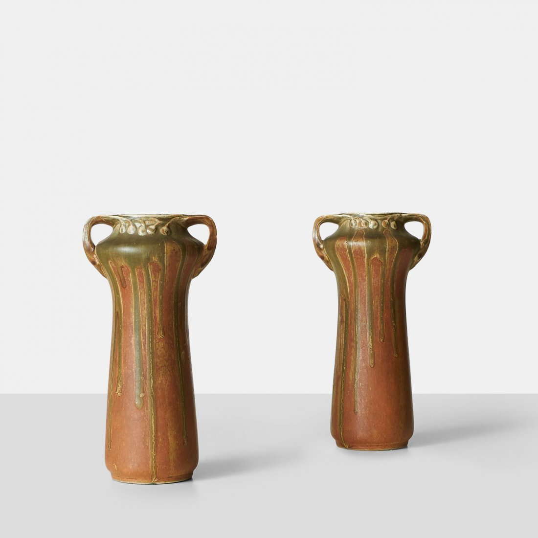 Guillaume Ceramics, Pair of Earthenware Vases