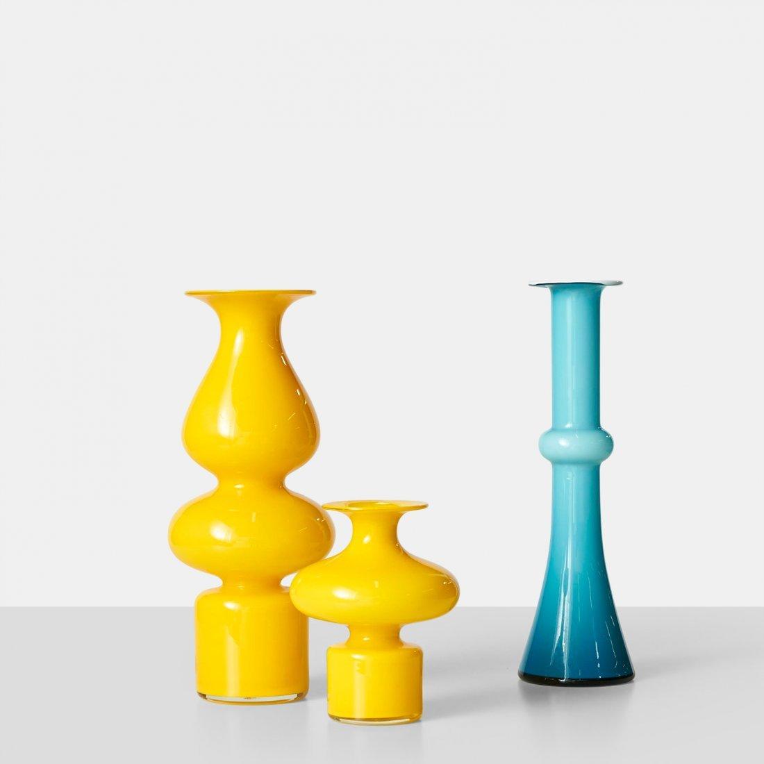 Michael Bang, Set of 3 Carnaby Vases