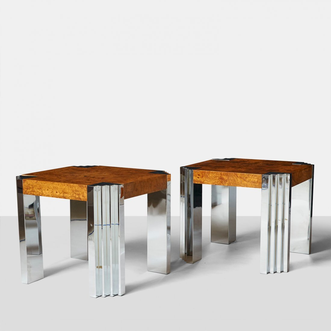 Milo Baughman, Pair of End Tables