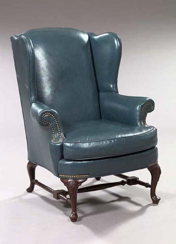 4: English Mahogany Wingback Armchair