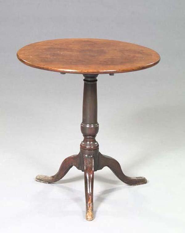 7: Queen Anne Mixed Woods Tilt-Top Tea Table