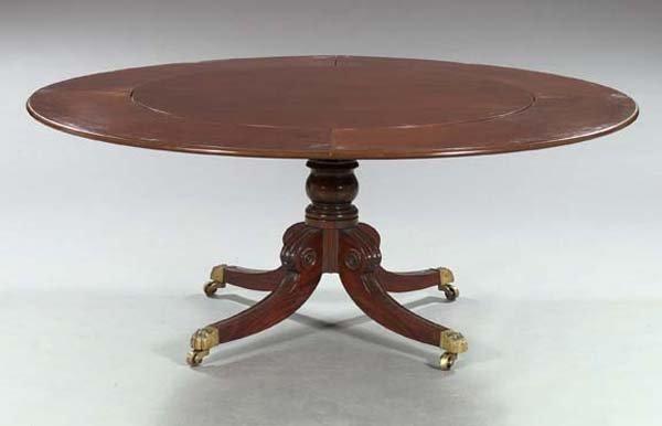 """19: Regency-Style Mahogany """"Horseshoe"""" Table"""