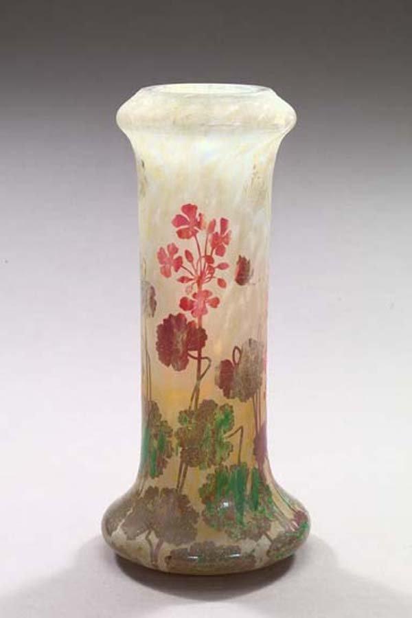 595: Daum, Nancy, Cameo-Cut Glass Vase
