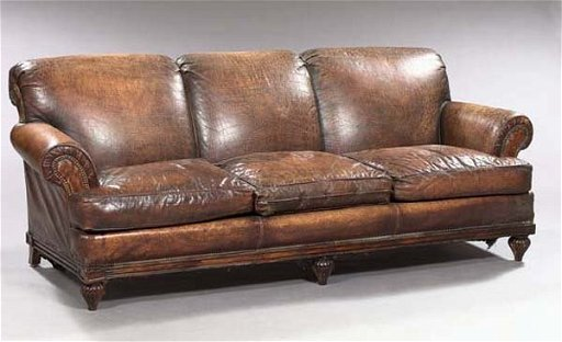 Astounding 1004 Triple Cushion Faux Alligator Leather Sofa Ocoug Best Dining Table And Chair Ideas Images Ocougorg