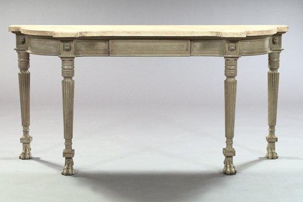 1: Regency-Style Marble-Top Side Table