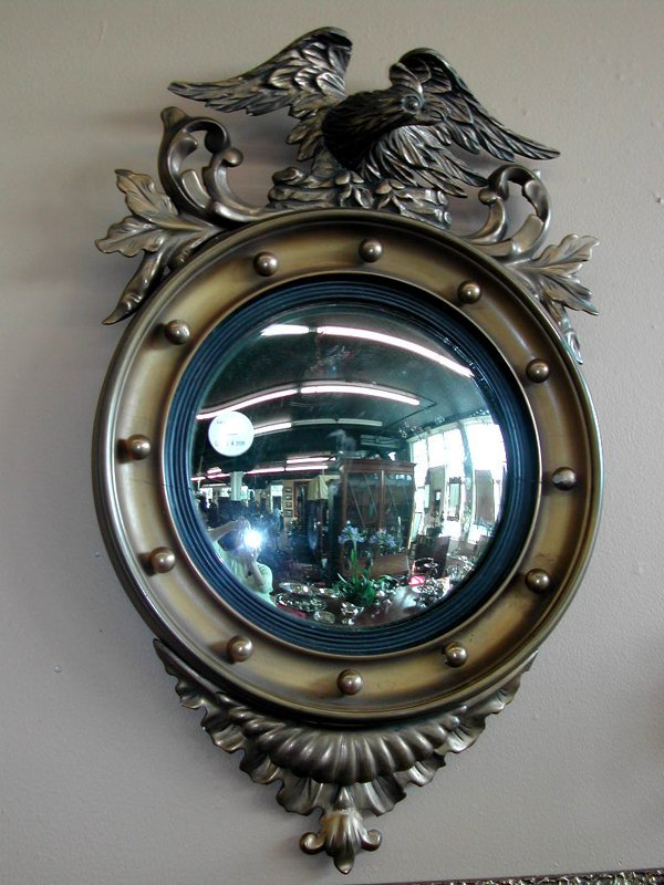 2: English Carved Convex Mirror