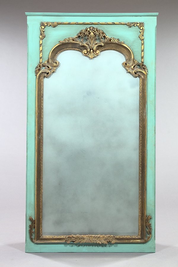 4: French Carved Beechwood Overmantel Mirror