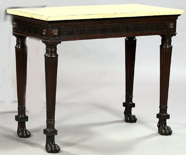 6: Regency-Style Mahogany and Marble-Top Table
