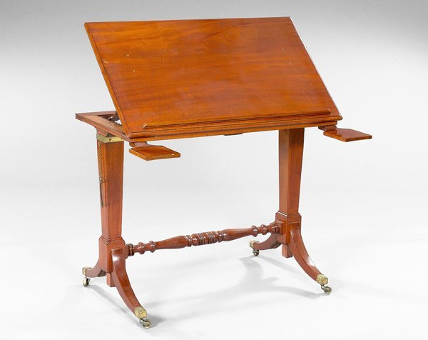 9: Regency Mahogany Architect's/Writing Table