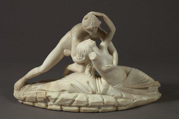 "10: Carrara Marble Group of ""The Kiss"""