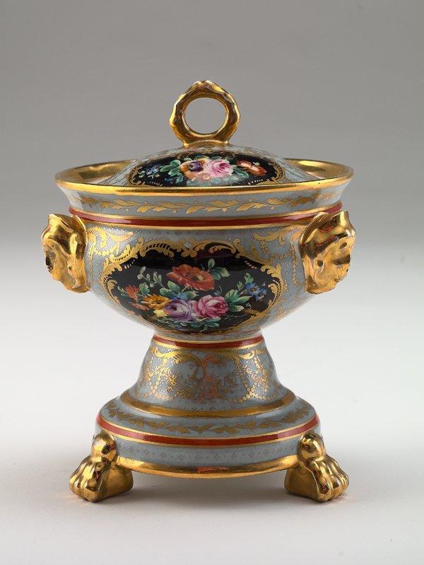 18: Paris Tripodal Porcelain Covered Sauce Tureen