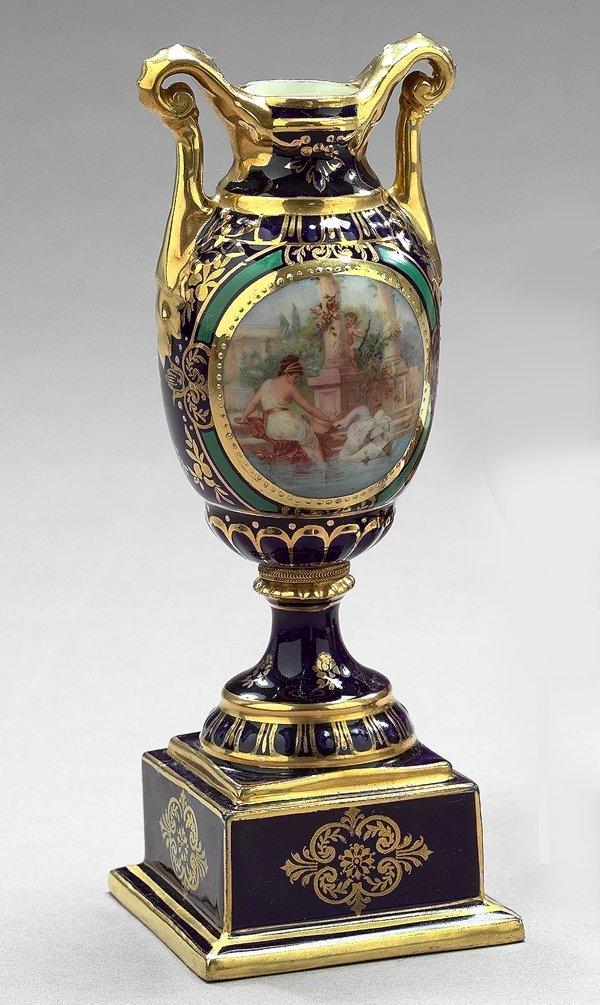 19: Diminutive Vienna Cobalt-Blue Porcelain Vase