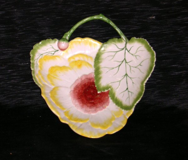 22: Portuguese Polychromed Pottery Sweetmeat Dish