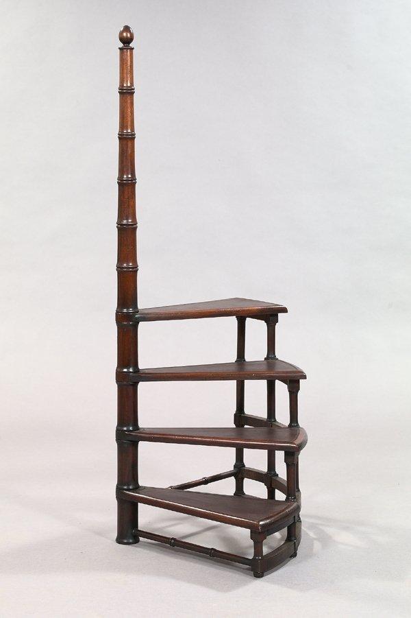 24: Regency-Style Mahogany Library Steps