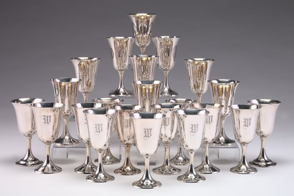 203: Manchester and Gorham Sterling Silver Goblets