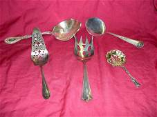 219: Five-Piece Collection of Silver Serving Pieces