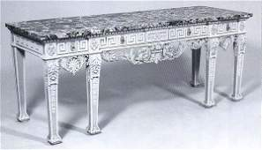 293 Louis XVIStyle MarbleTop Console Table