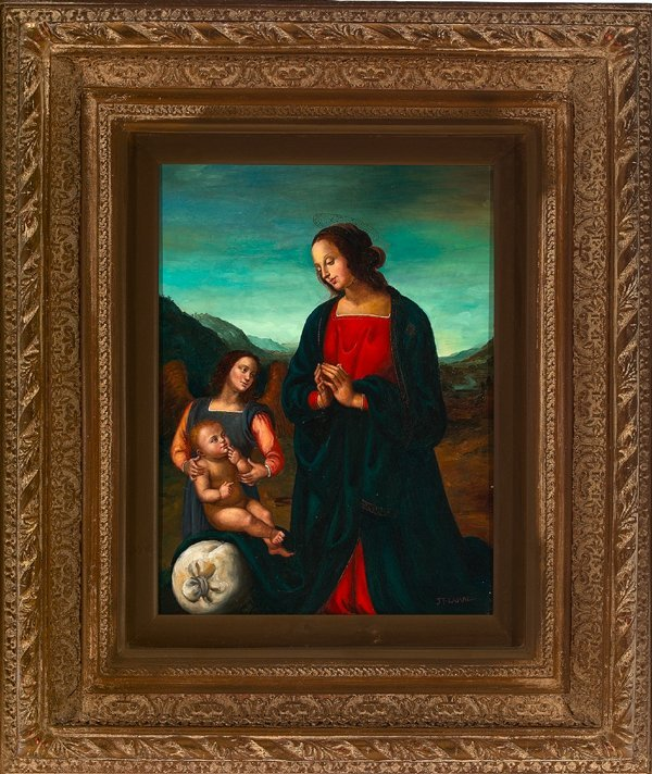 "781: Italian School (20th Century) ""Madonna and Child"""
