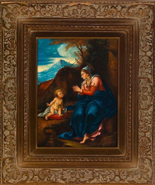 "782: Italian School (20th Century) ""Madonna and Child"""