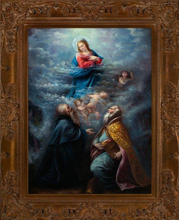 "786: Italian School (20th Century) ""Ascension of Virgin"