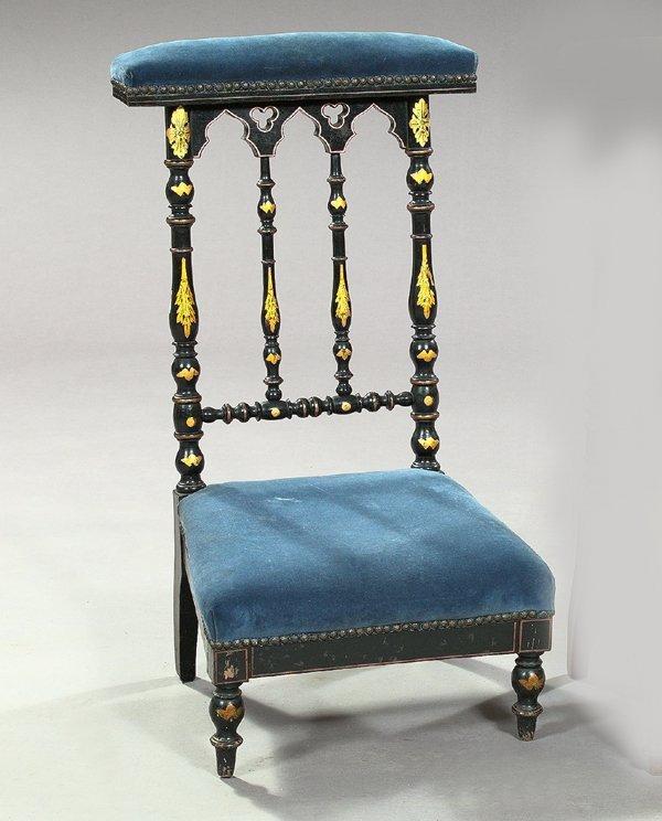 792: Napoleon III Ebonized Prie Dieu