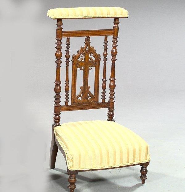 793: Napoleon III Walnut Prie Dieu